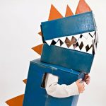 diy kids craft cardboard box dinosaur costume