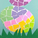 DIY construction paper mosaic easter eggs