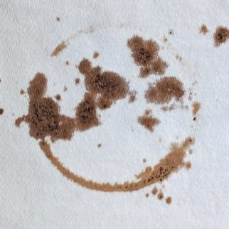coffee stain on white